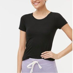 J. Crew Black Relaxed Fit Athleisure Tee XS